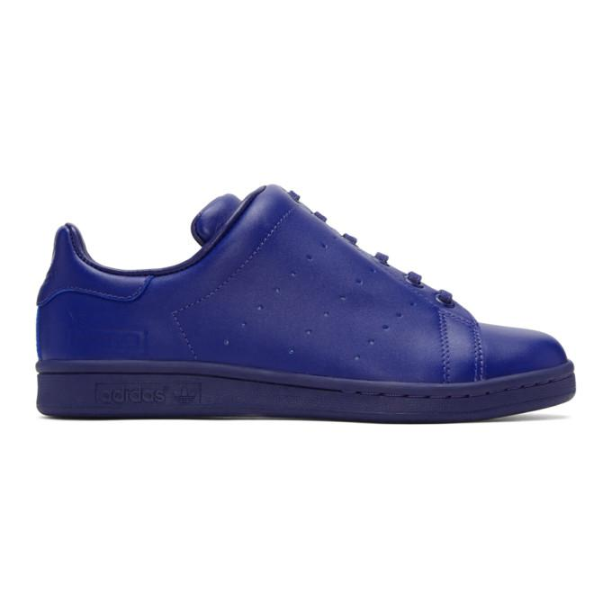 blue adidas originals edition diagonal stan smith sneakers