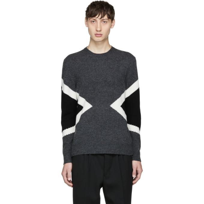 grey modernist crewneck sweater