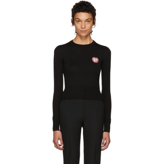 black swarovski heart sweater