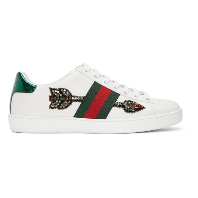 white bleeding arrow ace sneakers