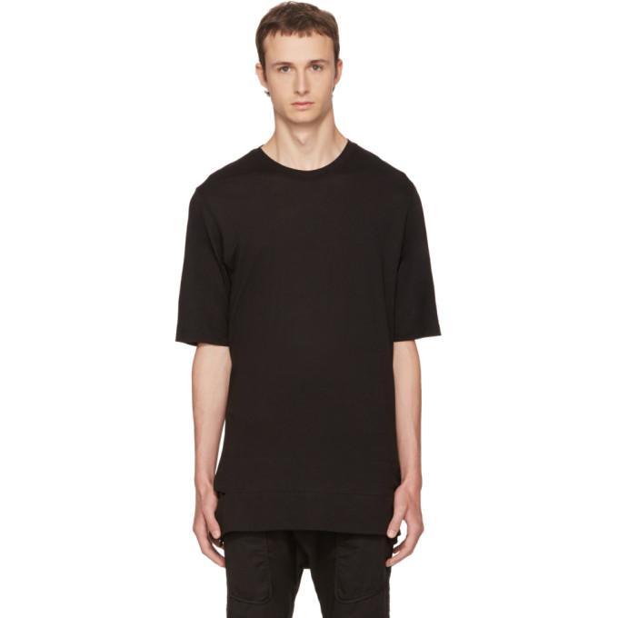 black slash hem t-shirt