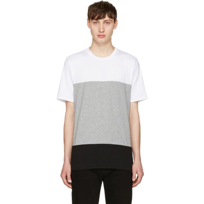 white & grey precision t-shirt