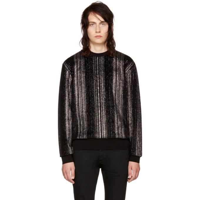 black striped glitter sweatshirt