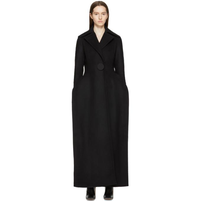 black 'le manteau plat' coat