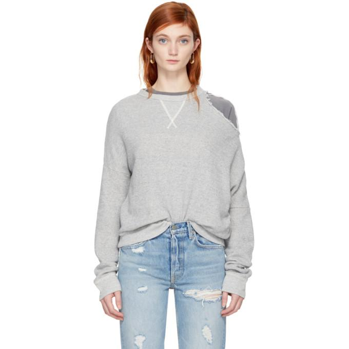 grey distorted sweatshirt
