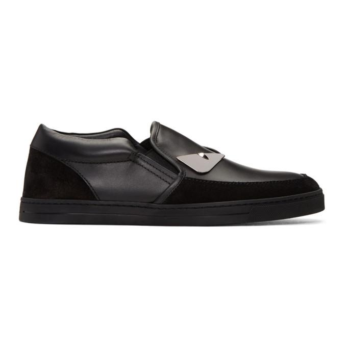 black 'bag bugs' slip-on sneakers