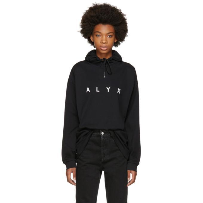 ssense exclusive black logo hoodie