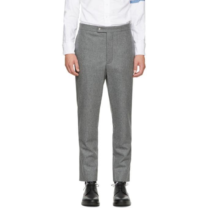 grey classic wool trousers