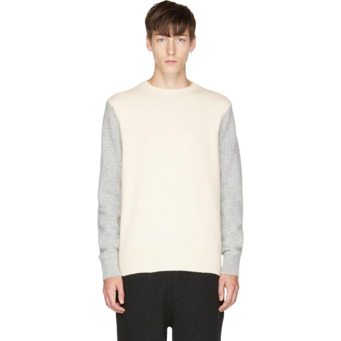 grey & ivory victor crew sweater