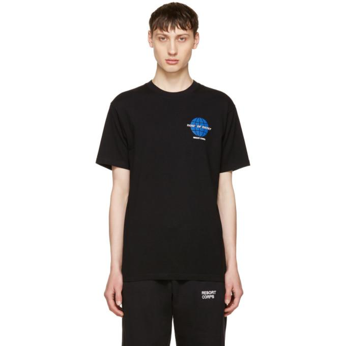 black 'now or never' t-shirt