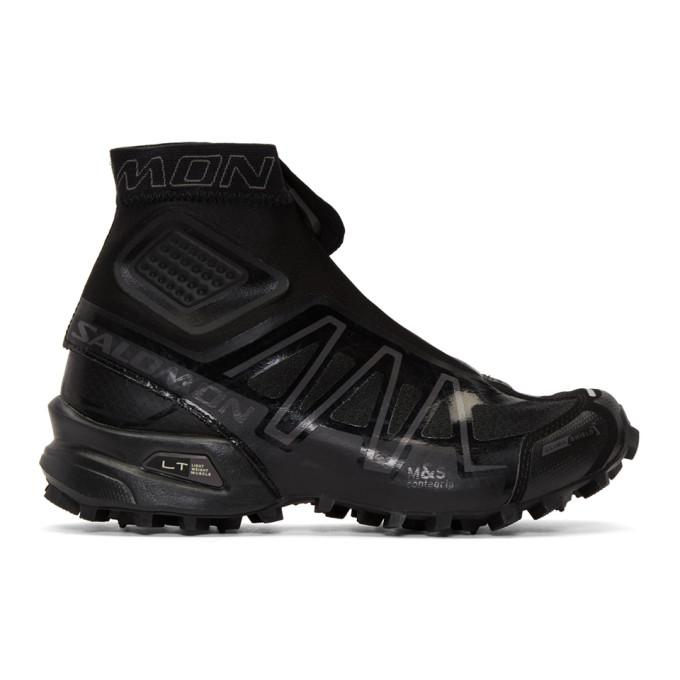black limited edition s-lab snowcross high-top sneakers