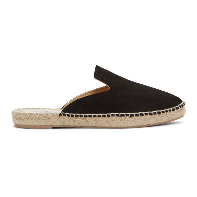black suede tonda slipper espadrilles