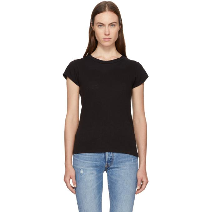 black 1960s slim t-shirt