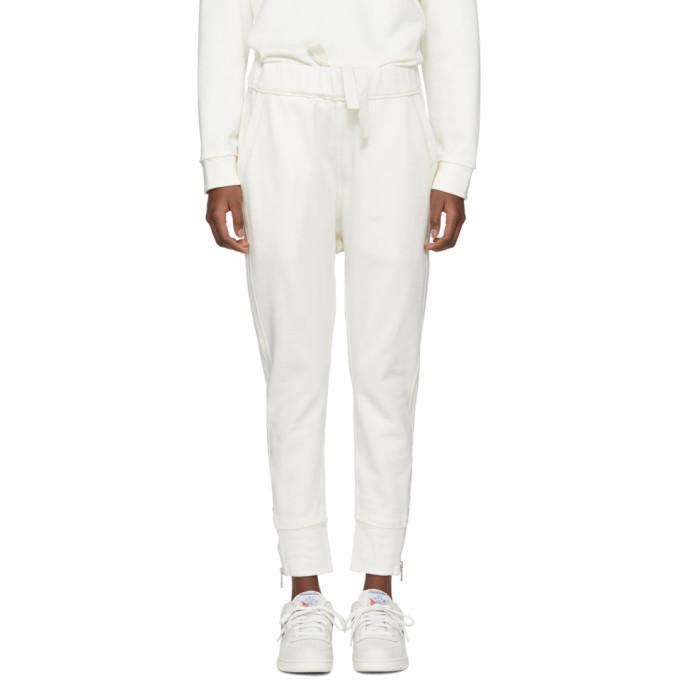 off-white zippered side lounge pants