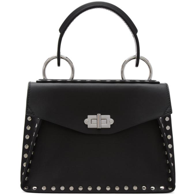 black studded small hava bag