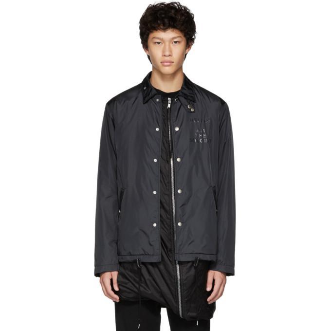 black branded coaches jacket