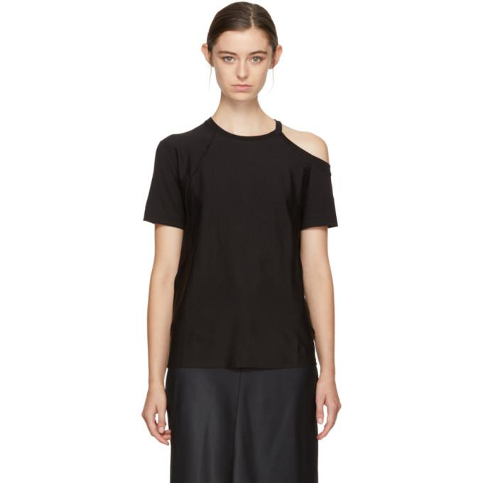 black deconstructed t-shirt