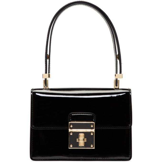 black mini flap lock bag