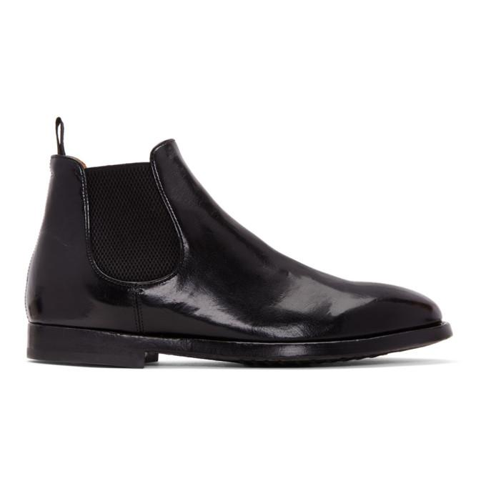 black herve chelsea boots