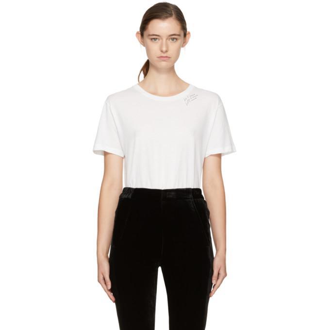 white 'je t'aime' t-shirt