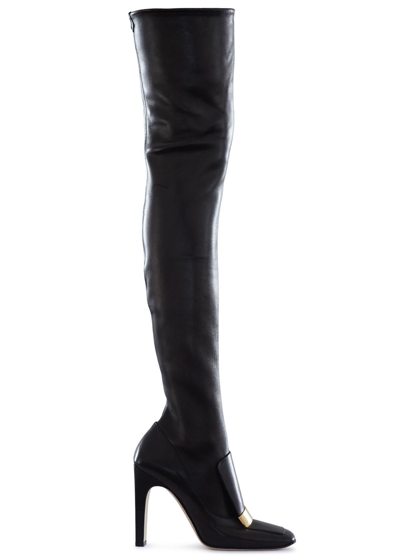 fashion shoes sergio stretch leather thigh high