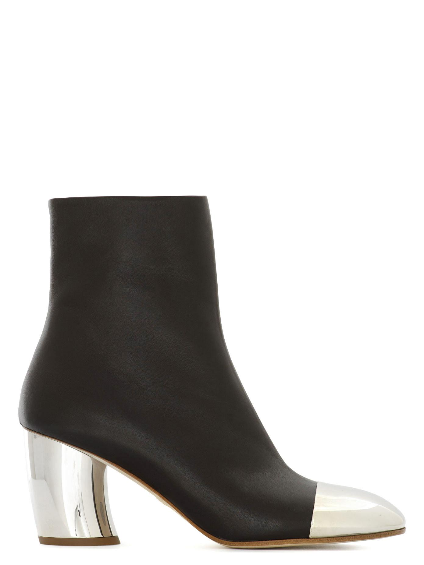 fashion shoes proenza schouler gold heel leather ankle
