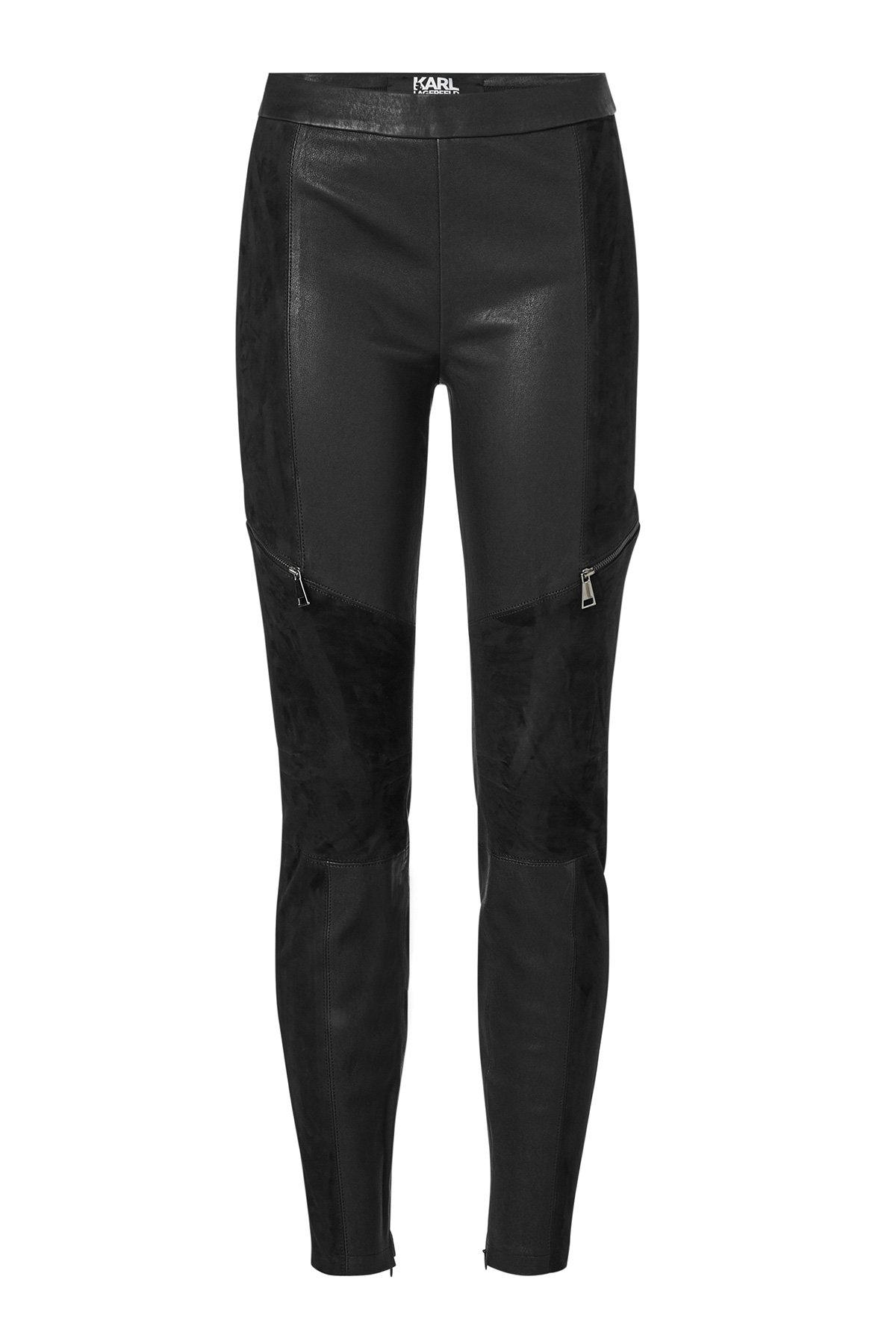 leather leggings with suede