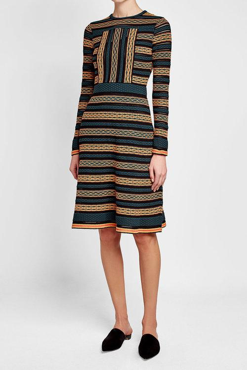 printed dress with cotton