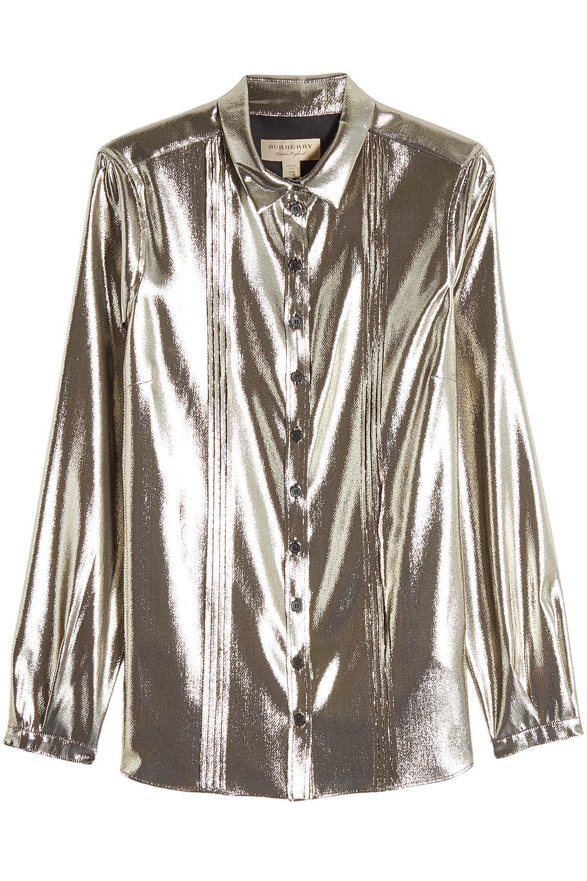 metallic lamé blouse