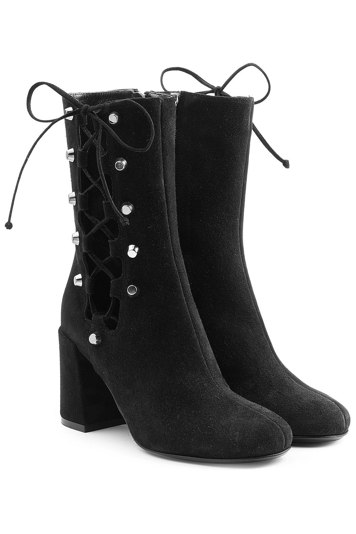 suede boots with lace-up sides