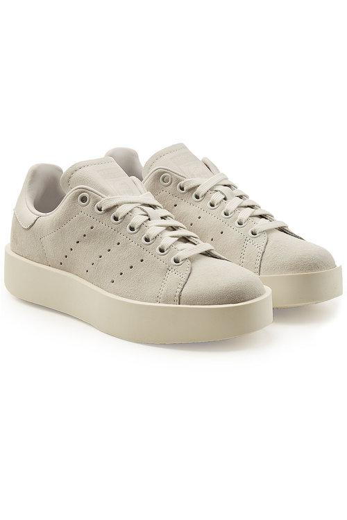 stan smith platform suede sneakers
