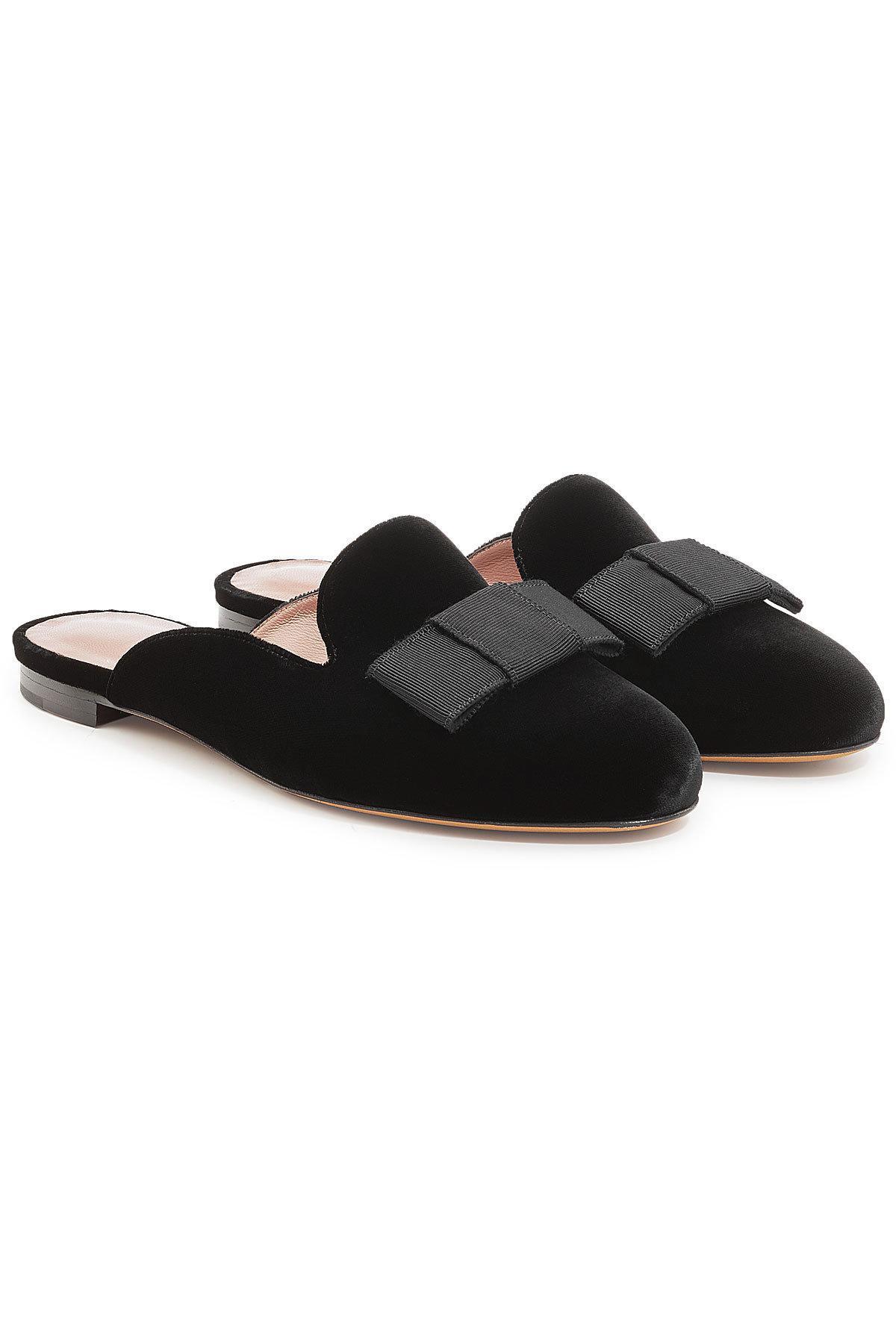 masha velvet mule slippers