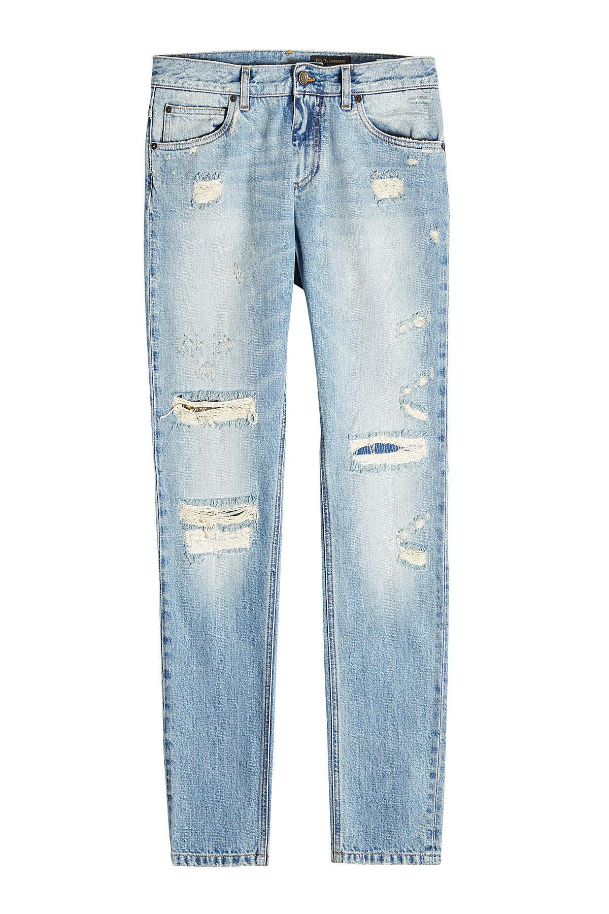 distressed slim jeans